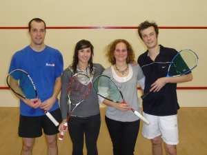 Gurval, Ashley, Karine et Briag ; finalistes de l'open