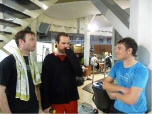 Jéjé, Romain et Max