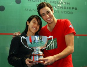 Ramy Ashour et Nicol David : Champion du monde 2008
